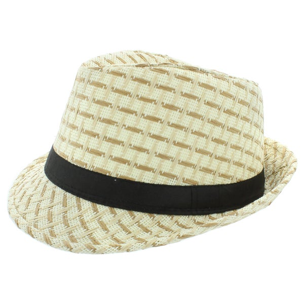 Faddism Fashion Fedora Straw Hat