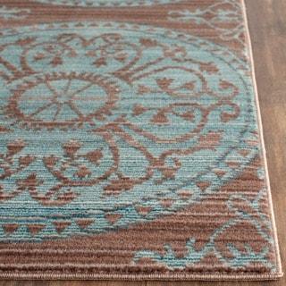 Safavieh Valencia Brown/ Alpine Polyester Rug (3' x 5')