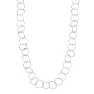 Fremada Sterling Silver Extra Long Round Link Necklace (42 inches)