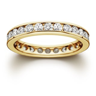 14k Yellow Gold 1 1/2ct TDW Channel-set Diamond Eternity Wedding Band (J-K, I2-I3)