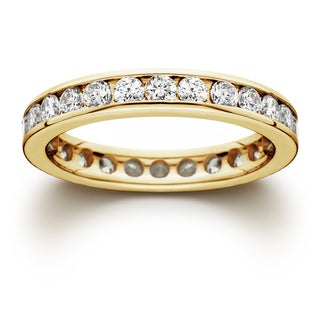 Bliss 14k Yellow Gold 1 1/2ct TDW Channel-set Diamond Eternity Wedding Band (J-K, I2-I3)