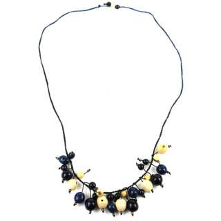 Faire Collection Cloud Forest Necklace in Midnight (Ecuador)