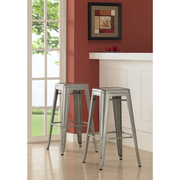 Tabouret 30-inch Set of 2 Metal Barstools (As Is Item) 15214905