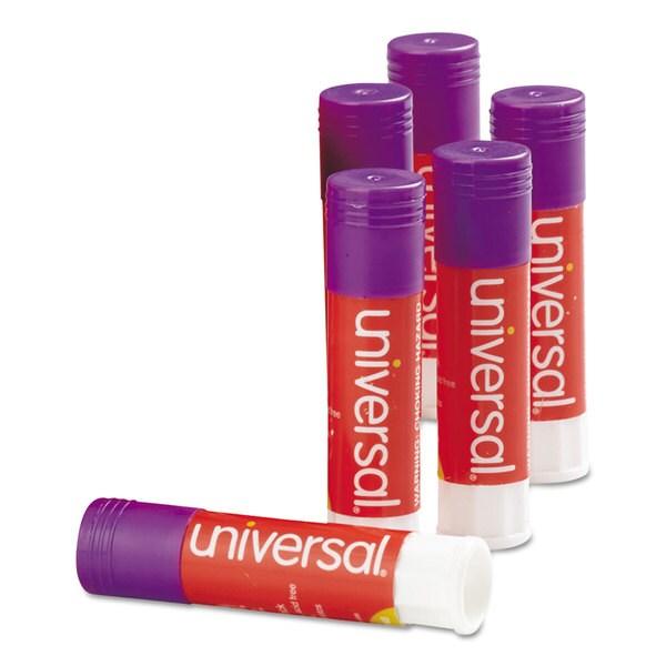 Universal Permanent Purple Glue Stick (4 Packs of 12)