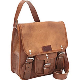 Sharo Small Brown Genuine Hand-crafted Leather Cross Body Bag