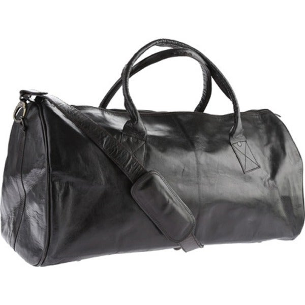 Sharo Black Leather Duffle Bag