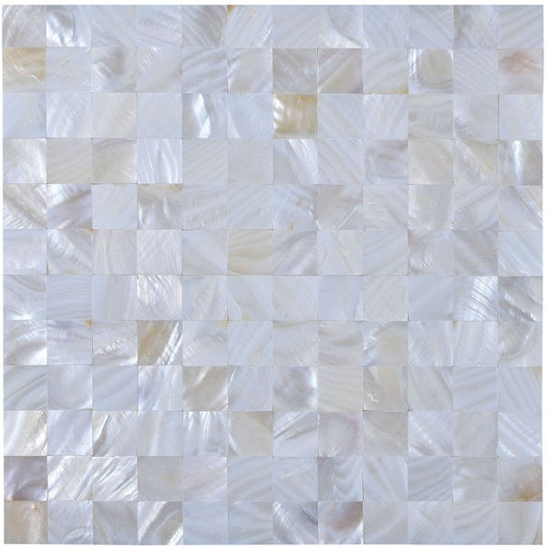 12-inch Seashell Tile Sheet (Pack of 11)