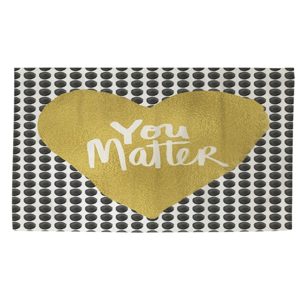 Thumbprintz You Matter Heart Rug (4' x 6')