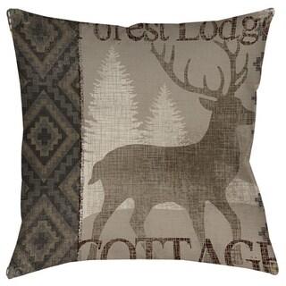 Thumbprintz Winter Lodge Deer Decorative Throw Pillow