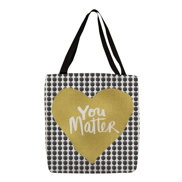 Thumbprintz You Matter Heart Tote