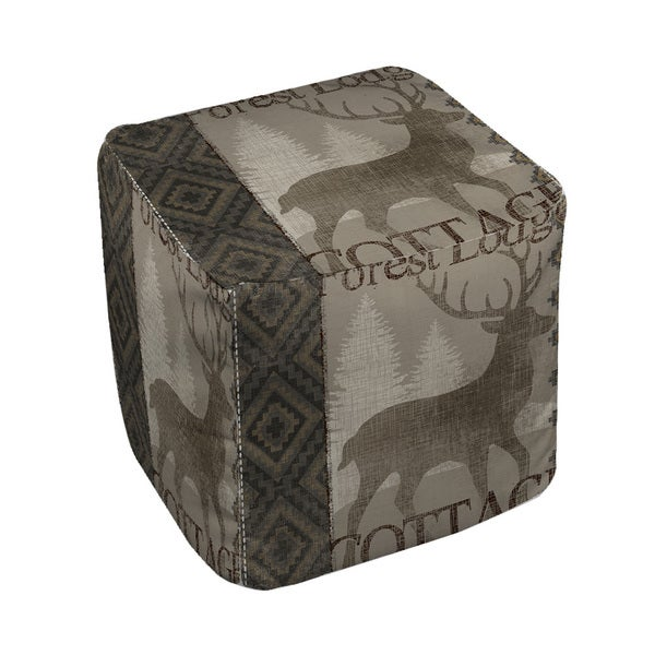 Thumbprintz Winter Lodge Deer - Ottoman