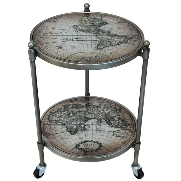 World Globe Wheeled Accent Table 17205843 Overstock