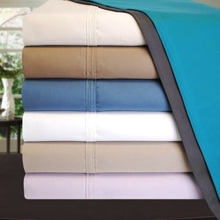 Luxor Treasures 1000 Thread Count Cotton Deep Pocket Solid Sheet Set with Pillowcases
