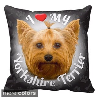 I Love My Yorkshire Terrier Throw Pillow