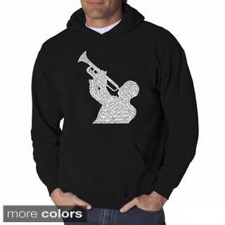 LA Pop Art Men's Jazz Greatest Hits Hooded Sweatshirt
