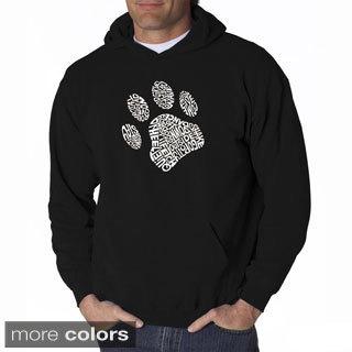 LA Pop Art Men's Dog Paw Hooded Sweatshirt