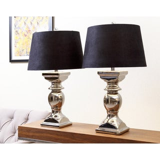 Abbyson Living Newport Silver Plated Table Lamp (Set of 2)