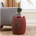ABBYSON LIVING Sophia Antique Red Pierced Ceramic Garden Stool