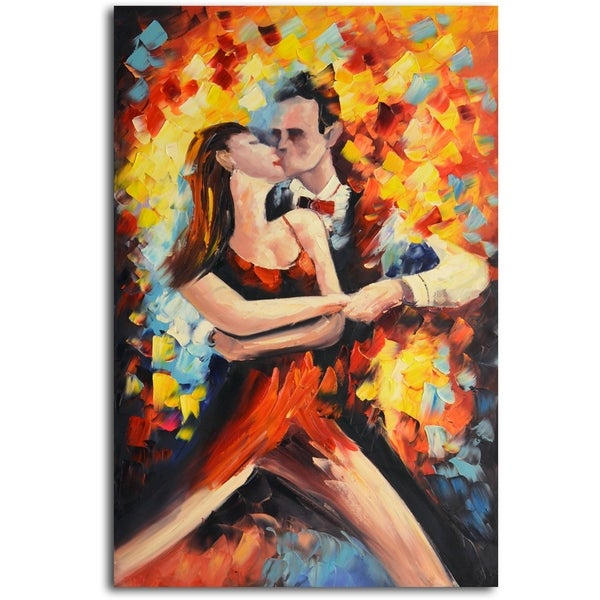 Tangoed in Love' Original Oil Painting on Canvas 15217633