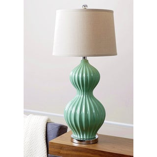 Abbyson Living Robin's Egg Fluted Table Lamp