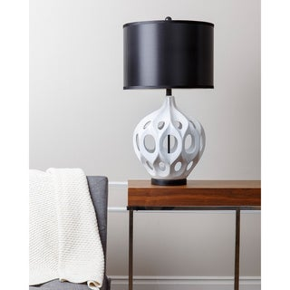 ABBYSON LIVING Eva White Ceramic Table Lamp