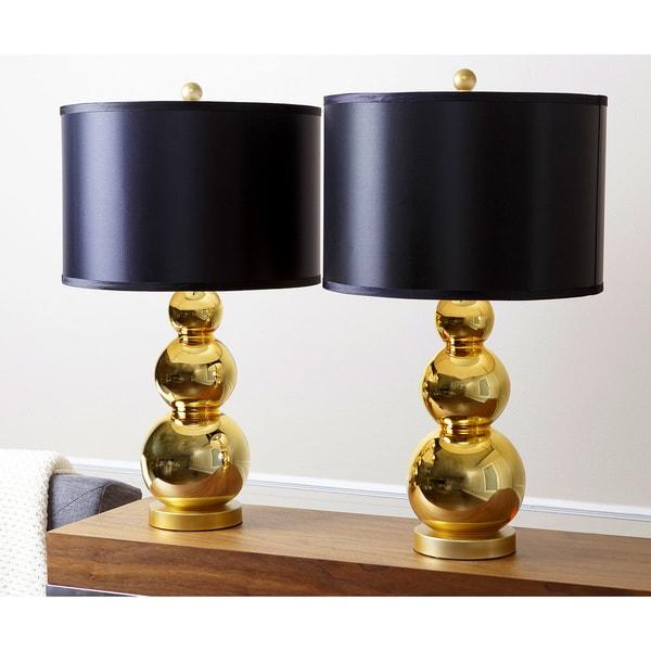 abbyson living gold mercury glass table lamp set of 2 17206667. Black Bedroom Furniture Sets. Home Design Ideas