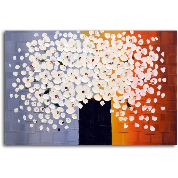 Bouquet of Pure White' Original Oil Painting on Canvas 15217673
