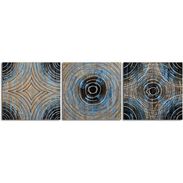 'Time Warp' Original Painting on Wood - Set of 3