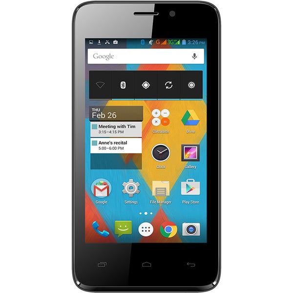 Unnecto Quattro X Unlocked GSM Dual-SIM HSDPA 3G 4-inch Android 4.4.2 Smartphone