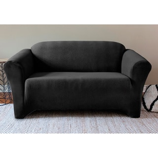 Sydney Velvet Collection 1-piece Loveseat Slipcover Collection