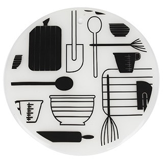 7.5-inch Round Silicone Trivet Set Mix Design (Set of 2)