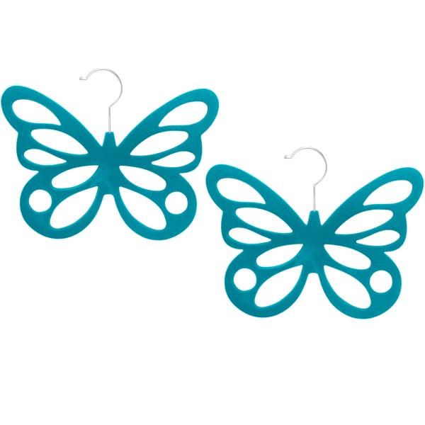 Velveteen Non-slip Butterfly Scarf Hanger (Pack of 2)