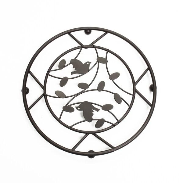 Bronze Birdsong Design Trivet