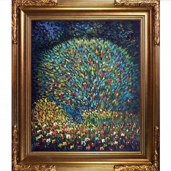 Gustav Klimt Apple Tree I Hand-painted Framed Canvas Art