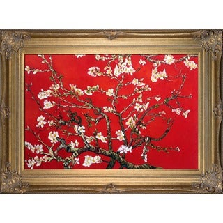 Vincent Van Gogh Branches Of An Almond Tree In Blossom Hand-painted Framed Canvas Art