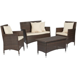 angelo:HOME Napa Estate Sandy Brown 4 piece Wicker Indoor/Outdoor Set
