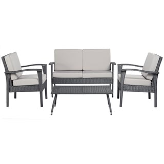 angelo:HOME Napa Estate Luxe Grey 4 piece Wicker Indoor/Outdoor Set