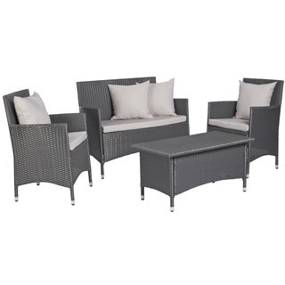 angelo:HOME Napa Estate Grey 4 piece Wicker Indoor/Outdoor Set