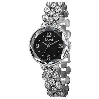 Burgi Women's Japanese Quartz Swarovski Crystals Alloy Bracelet Watch