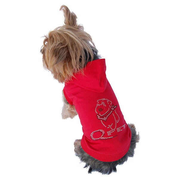 Pet Hoodie with Rhinestone Q Pet Logo