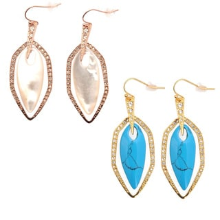 De Buman 18k Goldplated Fancy-cut Gemstone Earrings