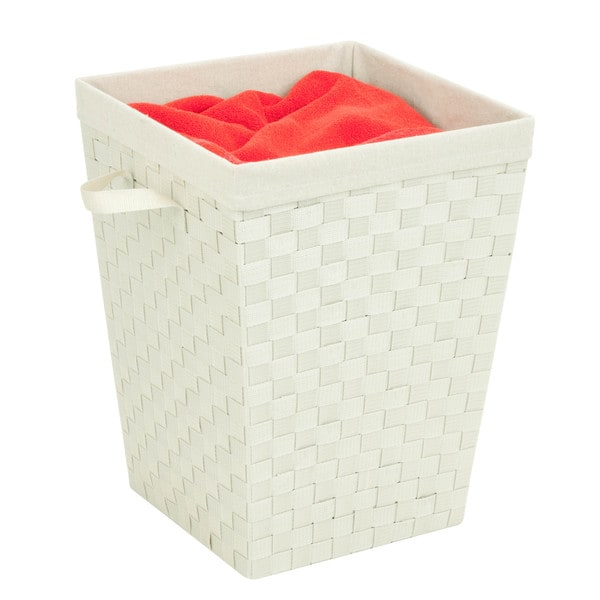 Woven Strap Hamper with liner