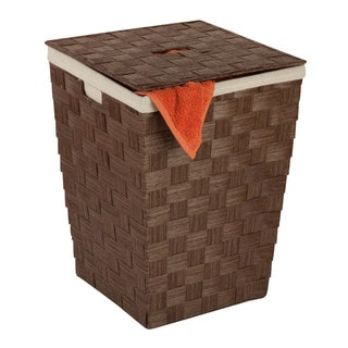 Honey Can Do Woven Hamper with Lid