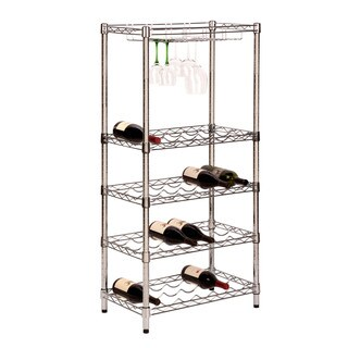 Honey Can Do 5-tier Chrome Wine Rack
