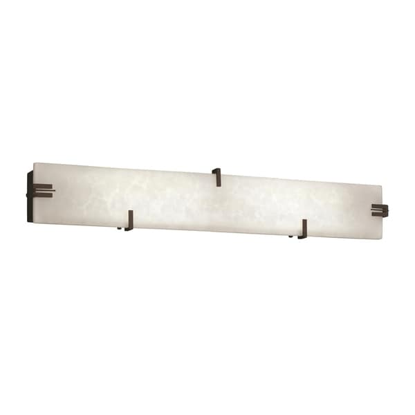Justice Design Group Clouds Clips 28 inch LED Linear Bath Bar, Bronze