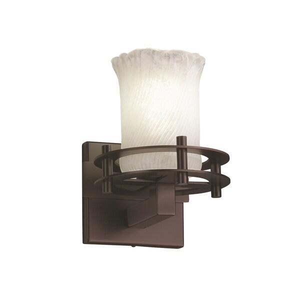 Justice Design Group Veneto Luce 1-Light Sconce, Bronze 15218806