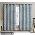 Victoria Classics Alexander Grommet Top 96-inch Blackout Printed Curtain Panel