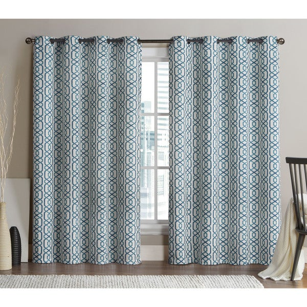 VCNY Alexander Grommet Top 96-inch Blackout Printed Curtain Panel Pair (As Is Item)