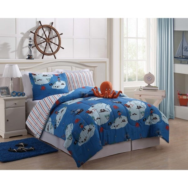 Octopus Blue Comforter Set