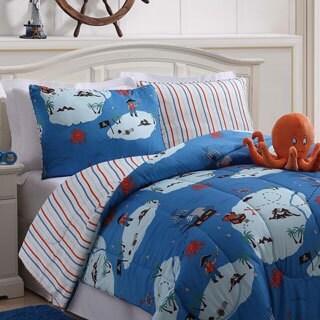 Octopus Blue Comforter Set